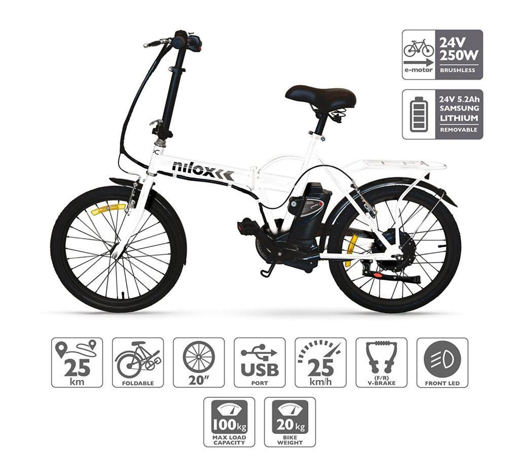 oferta bicicleta electrica plegable nilox x1