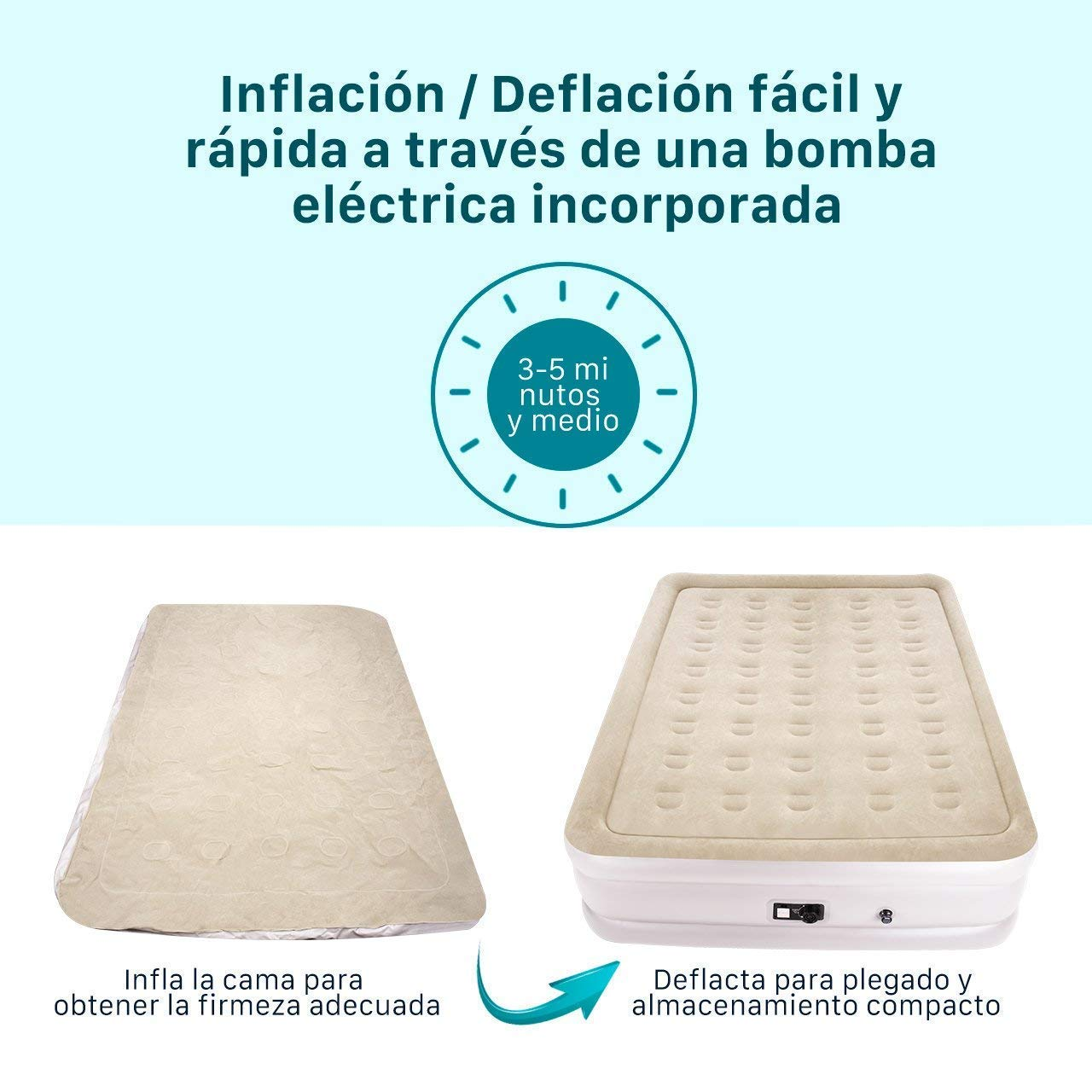 cama hinchable - colchon hinchable-chollo amazon