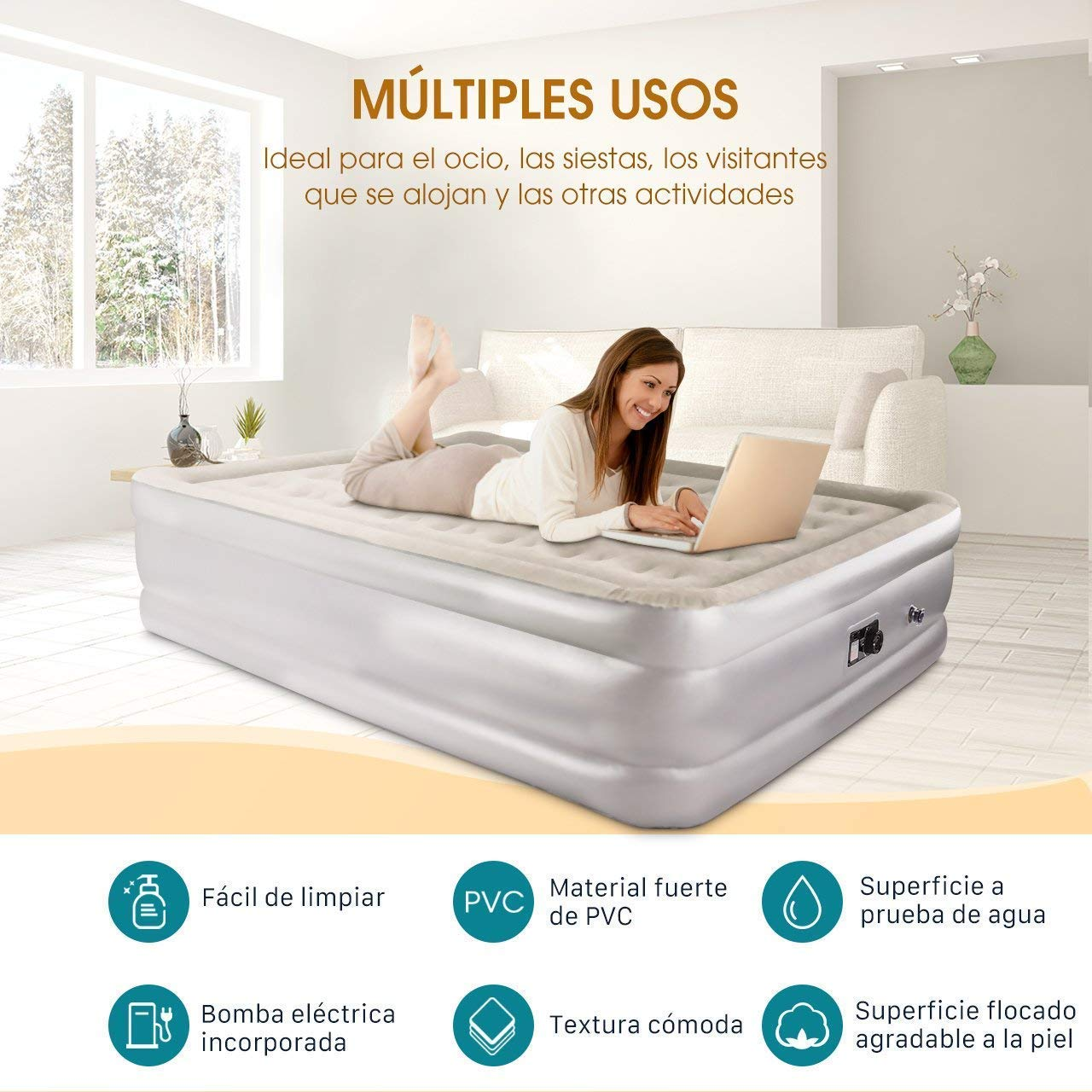 cama hinchable - colchon hinchable-ofertas amazon