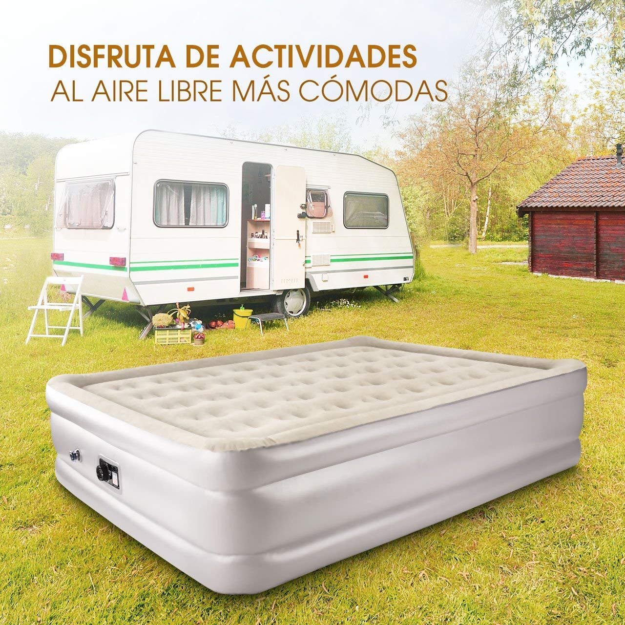 cama hinchable - colchon hinchable-super chollos amazon