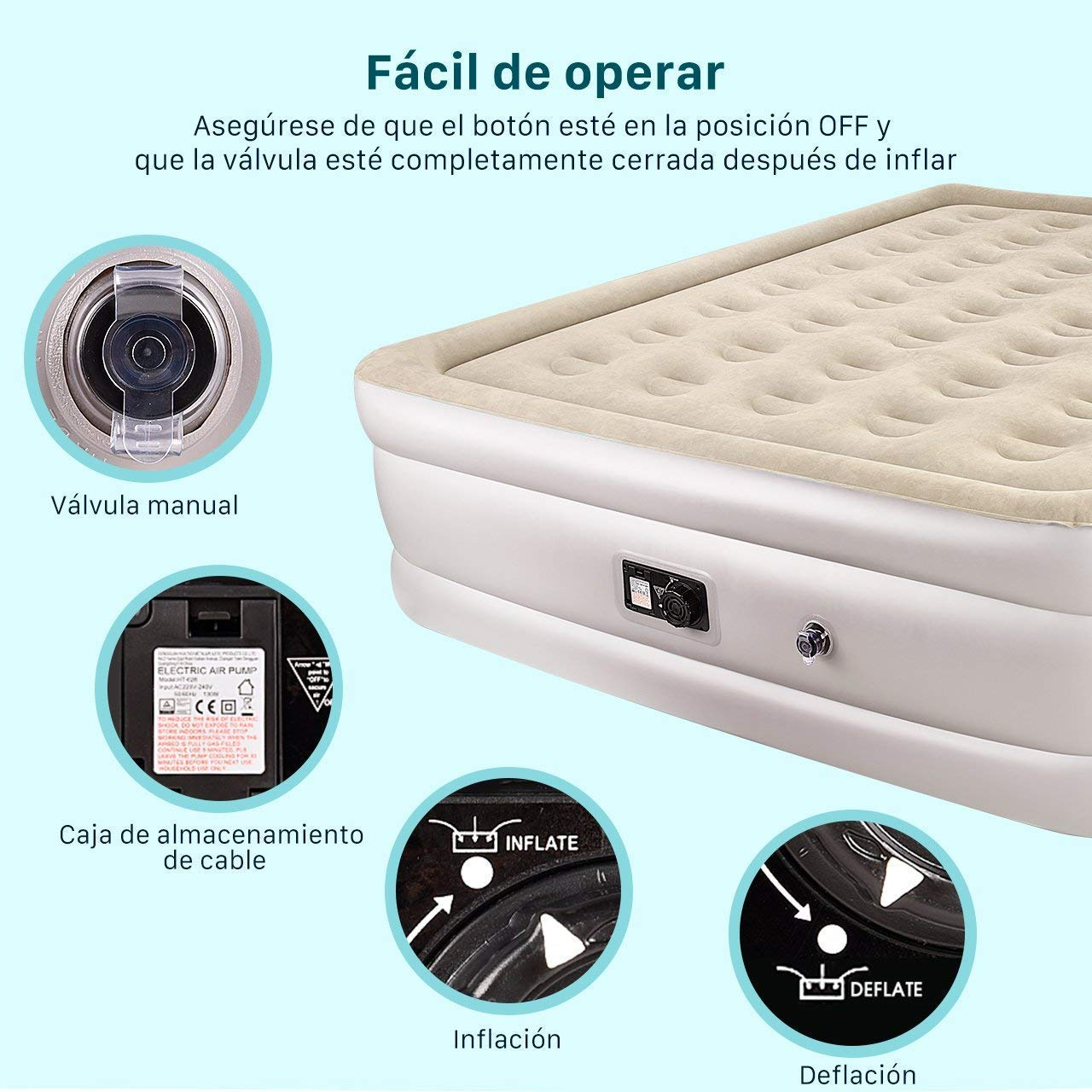 cama hinchable - colchon hinchable-superchollo amazon