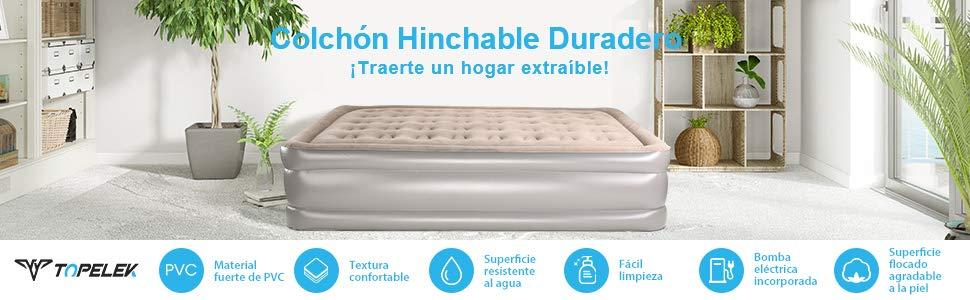cama hinchable topelek - colchon hinchable barato-oferta amazon
